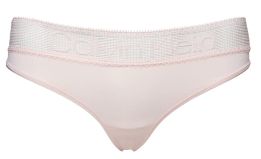 Dámské brazilky Calvin Klein Brazilian Logo Lace Růžové