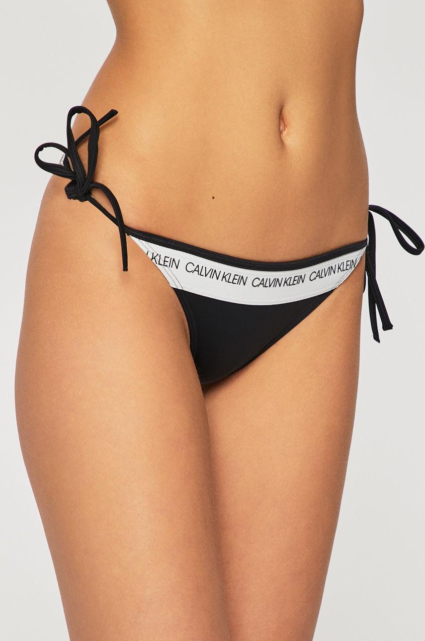 Dámský spodní díl plavek Calvin Klein String Side Tie Bikini Black