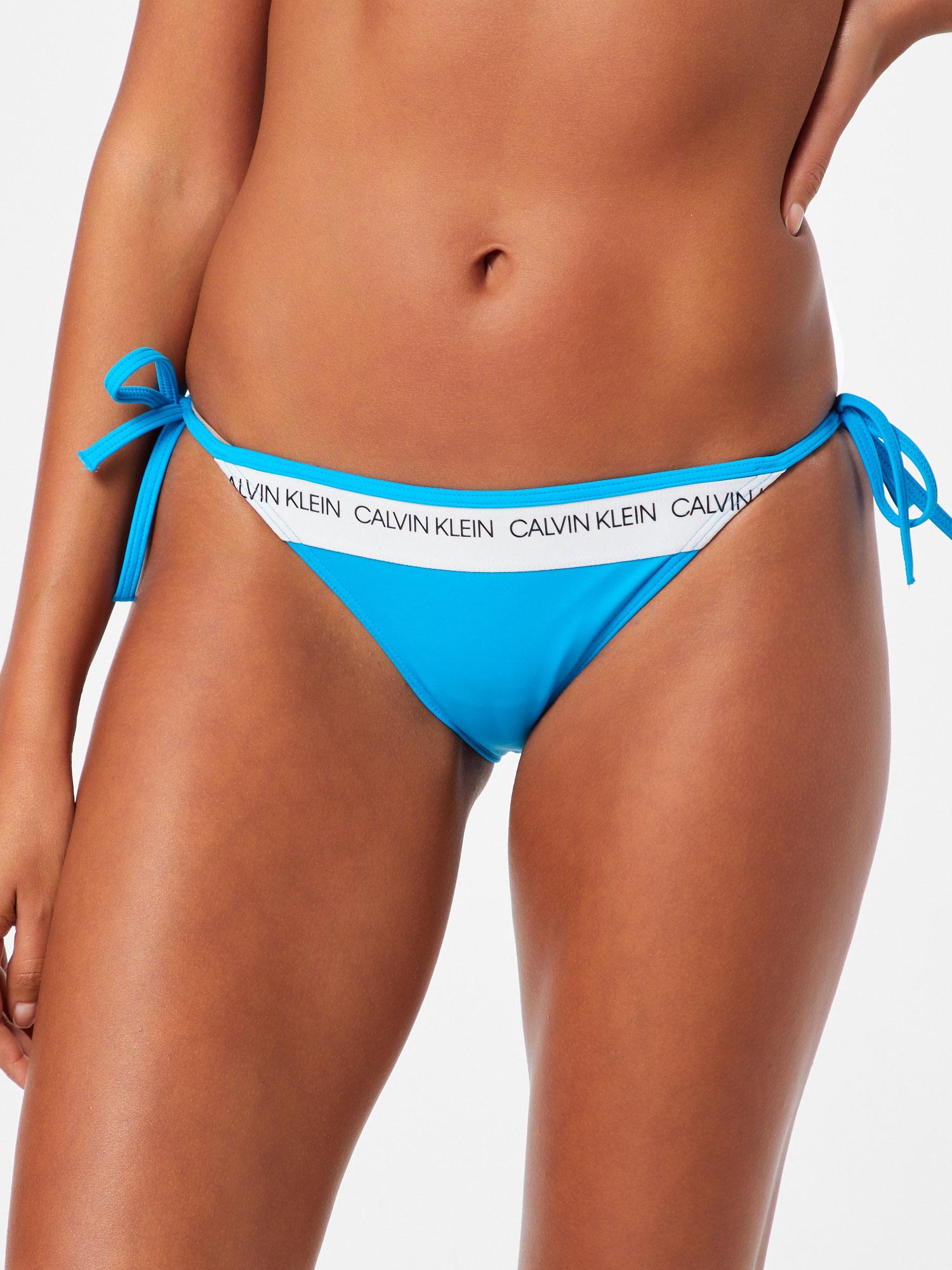 Calvin Klein dámský spodní díl plavek String Side Tie bikiny maldive modré