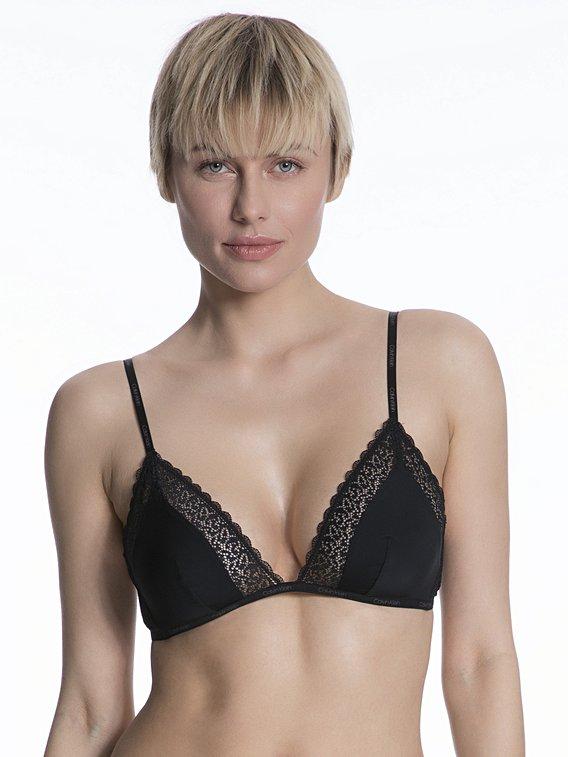 Dámská podprsenka Calvin Klein Flirty Unlined Triangle Black