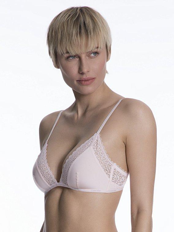 Dámská podprsenka Calvin Klein Flirty Unlined triangel nymphs