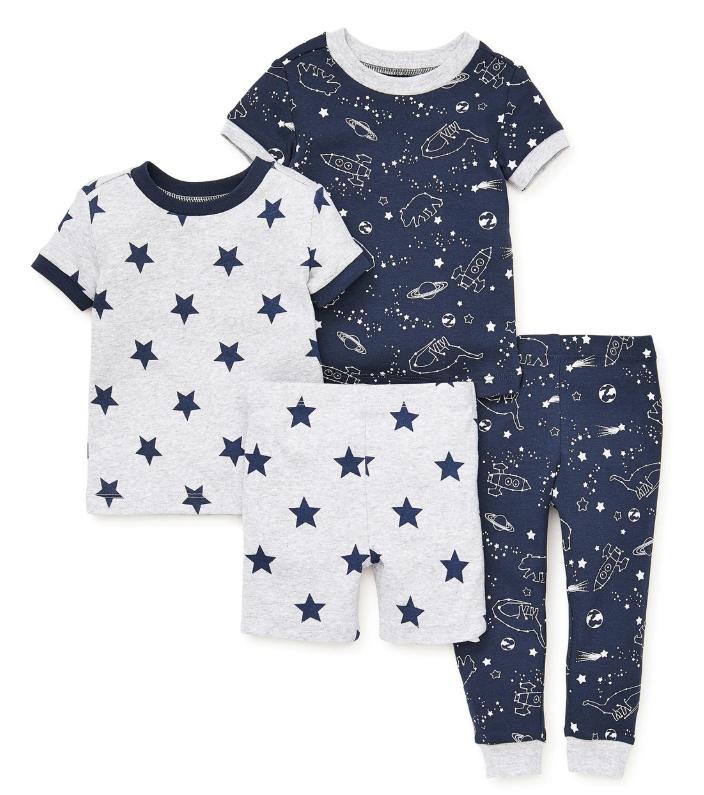 Little Me 4-dílné dětské pyžamo s hvězdičkami