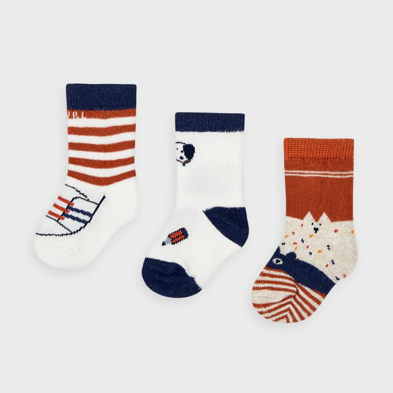 Mayoral set 3 párů kojeneckých ponožek 9305-013