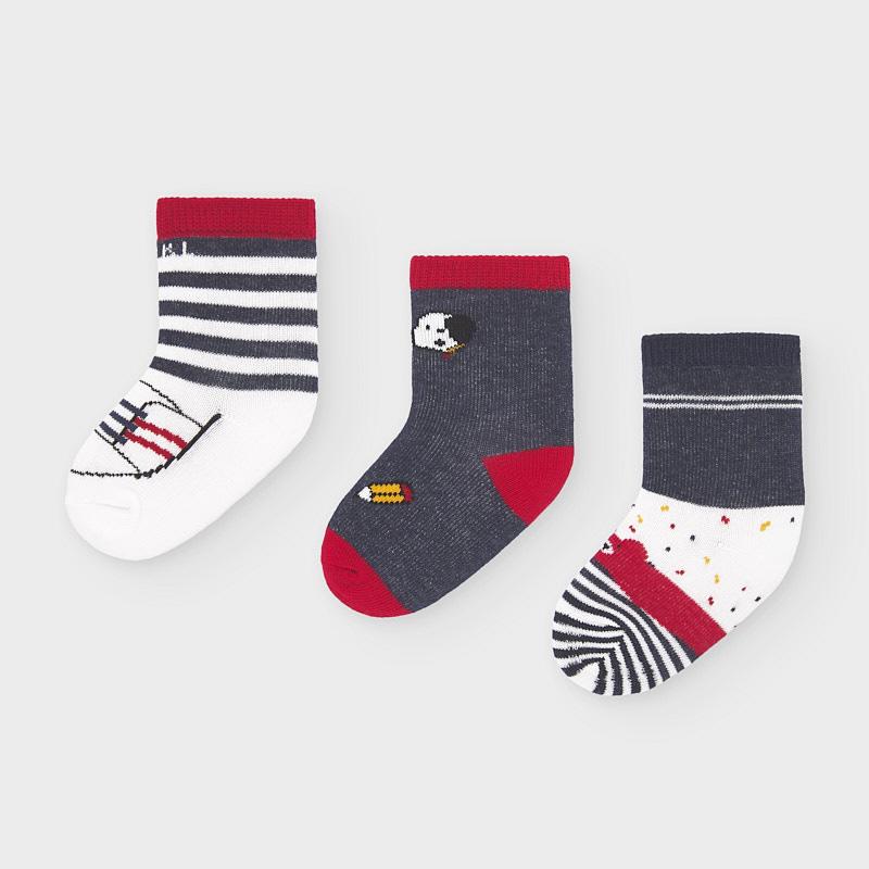 Mayoral set 3 párů kojeneckých ponožek 9305-010
