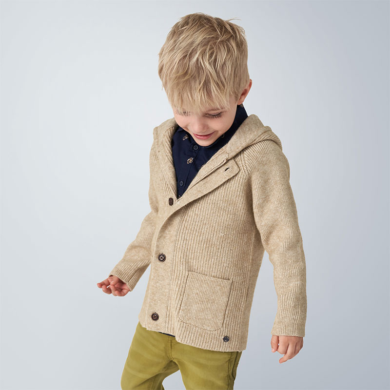 Mayoral chlapecký pletený svetr s kapucí 4340-065