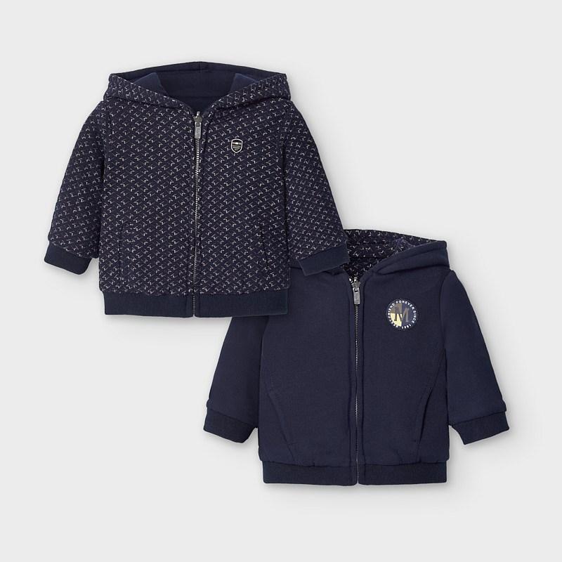 Mayoral chlapecká fleece mikina s kapucí 2493-042