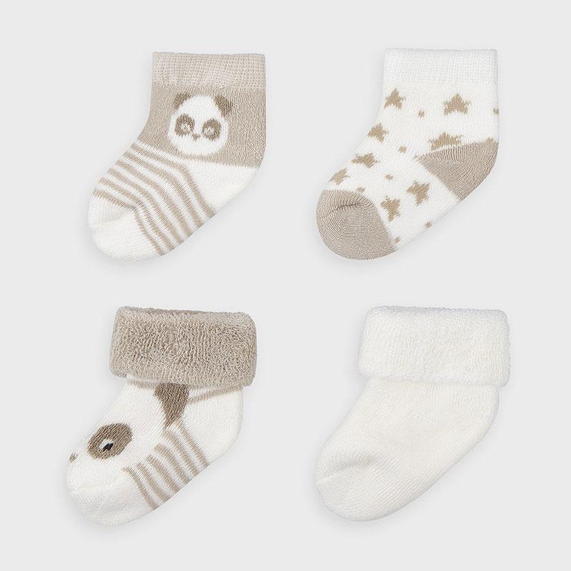Mayoral set 4 párů kojeneckých ponožek 9302-081