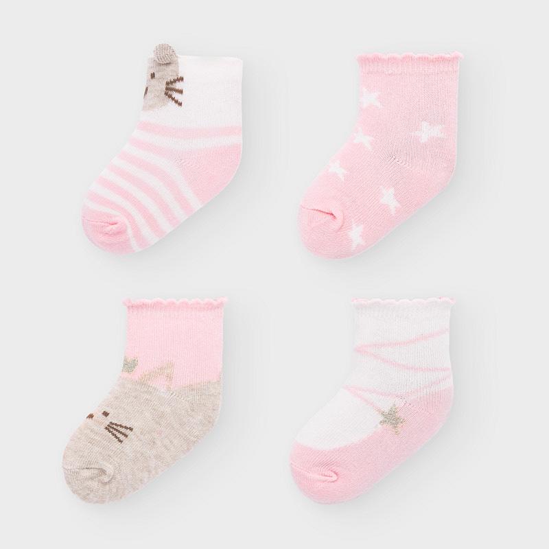 Mayoral Set 4 párů kojeneckých ponožek 9306-060