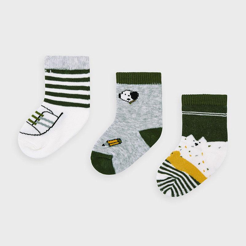Mayoral set 3 párů kojeneckých ponožek 9305-011