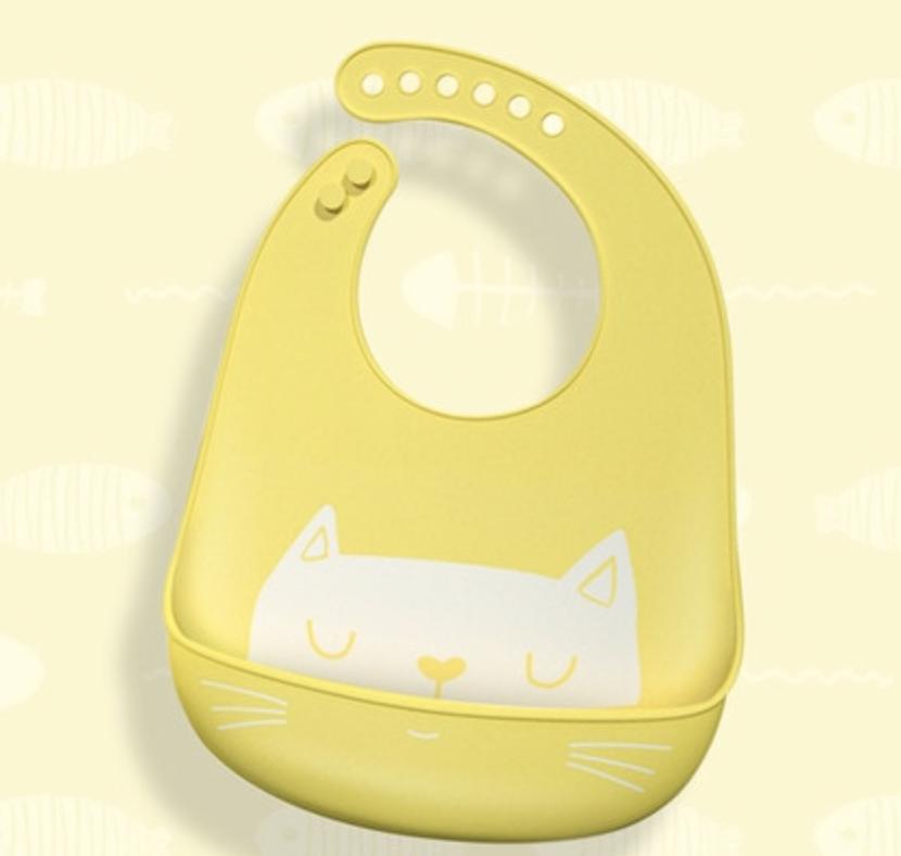 Silikonový bryndák kočička