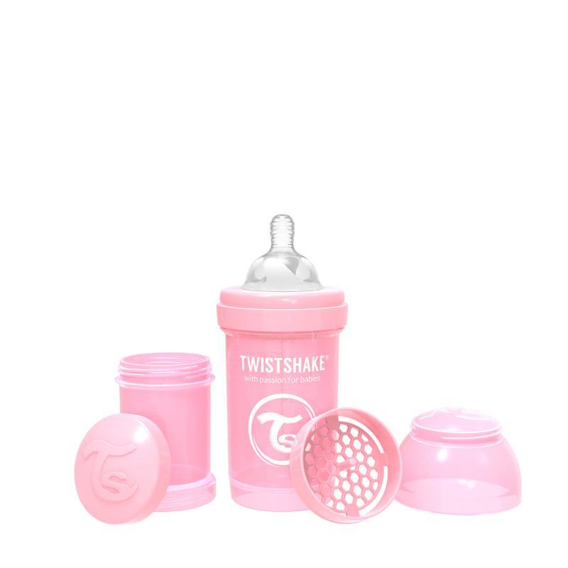 Twistshake kojenecká láhev Anti - Colic 180 ml růžová K78249