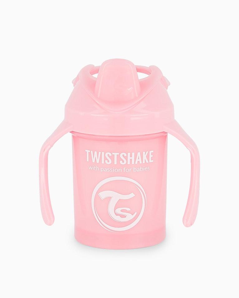 Twistshake učící netekoucí hrnek růžový 230 ml K78267