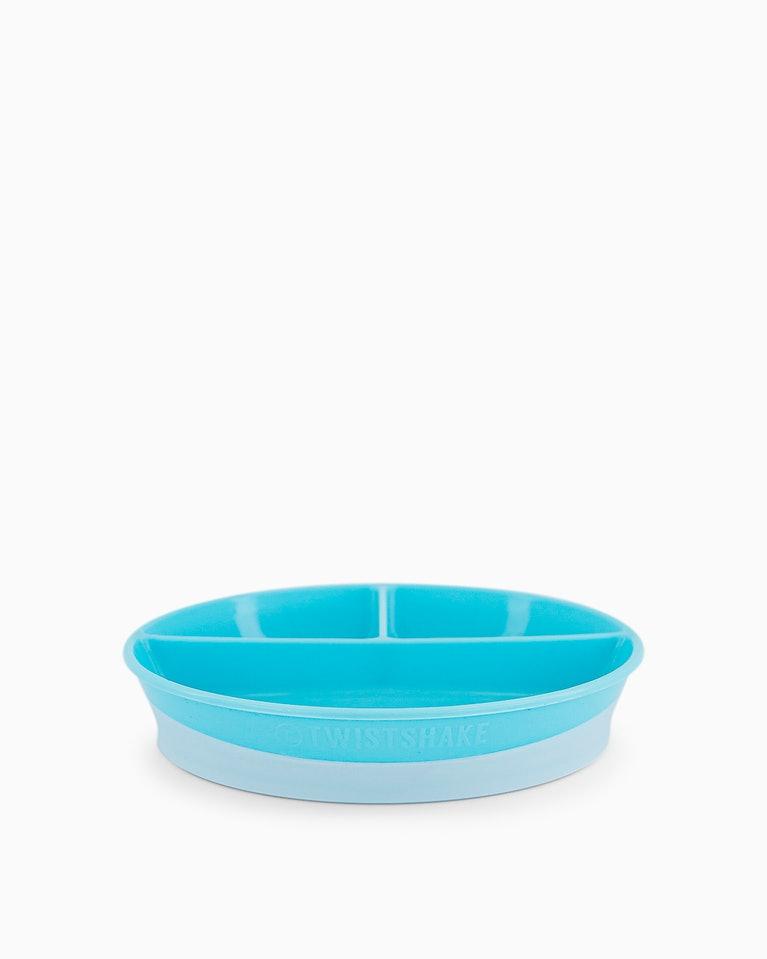 Twistshake dětský dělený talíř 6+m modrý K78170