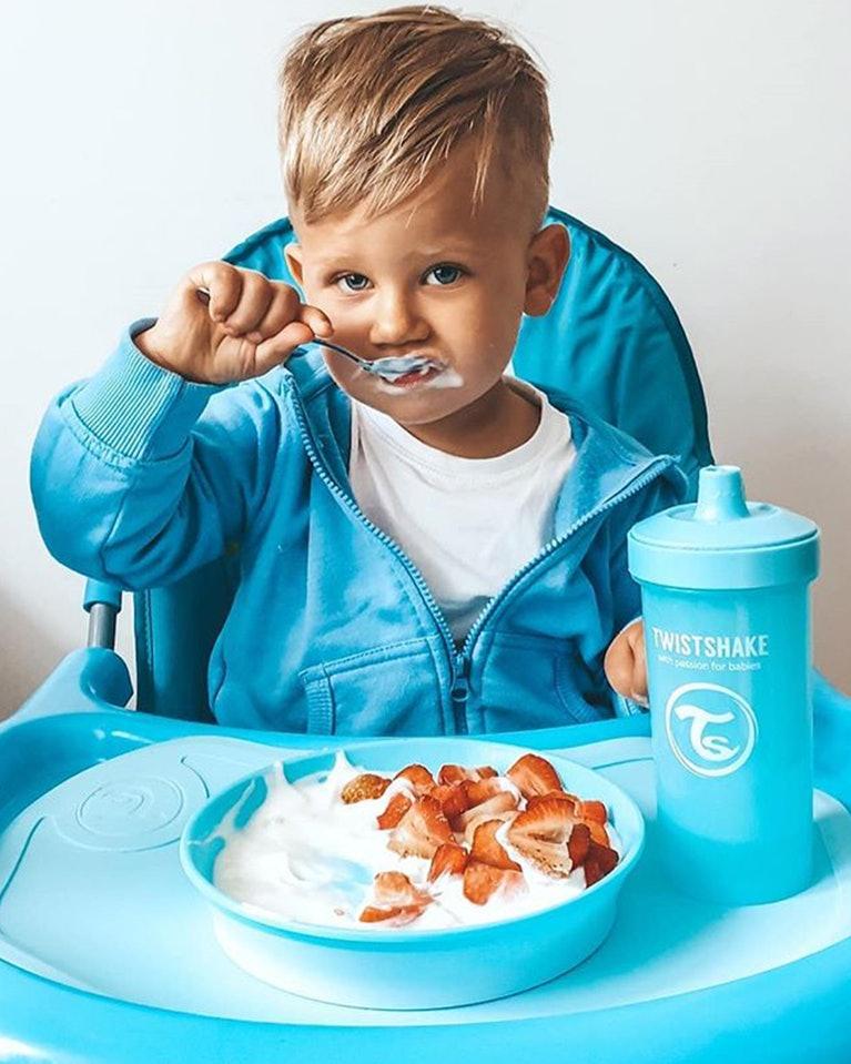 Twistshake podložka Click - Mat mini s talířem modrá K78440