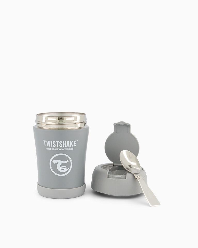 Twistshake termoska na jídlo 350 ml šedá K78751