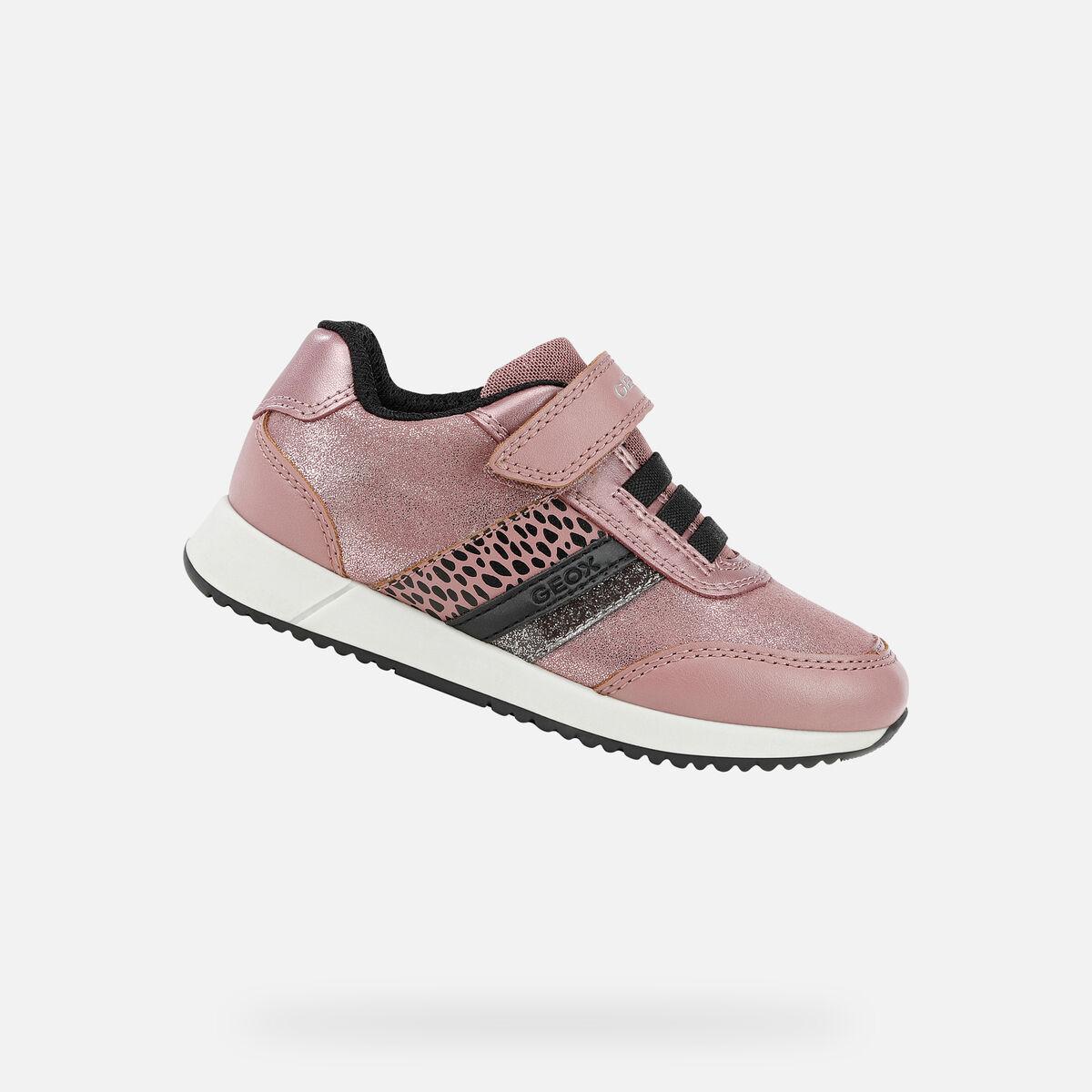 GEOX dětské boty JENSEA růžové - J166FA
