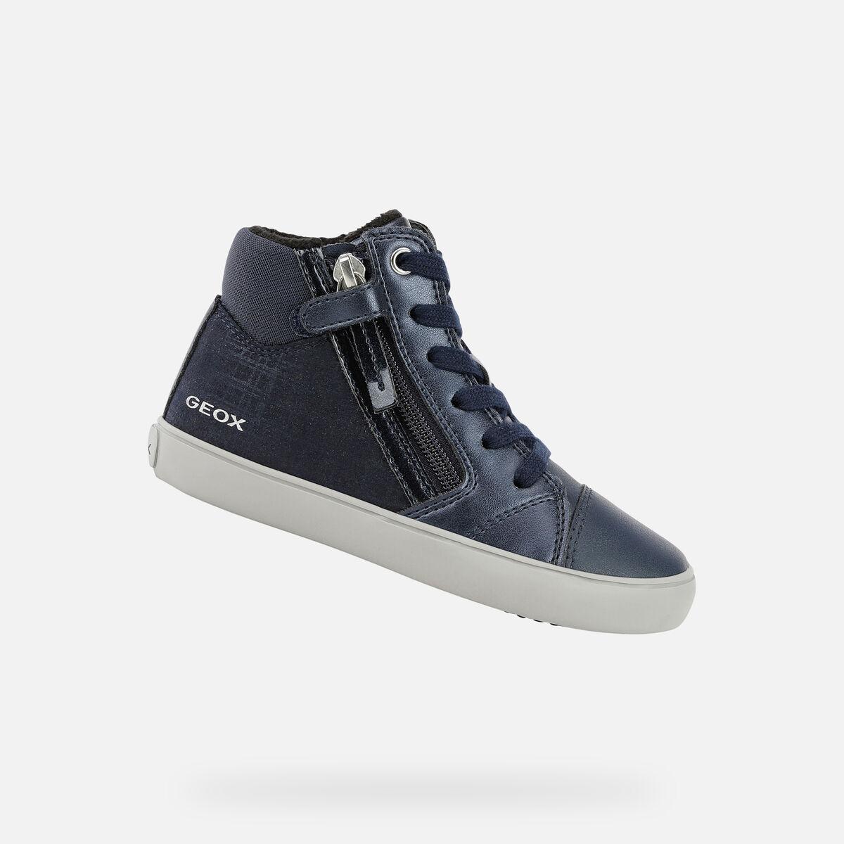 GEOX dětské kotníkové boty GISLI GIRL modré - J044NC