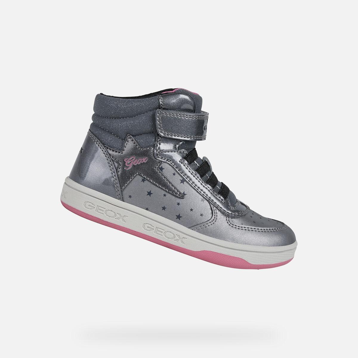 GEOX dětské kotníkové boty MALTIN šedé - J1600A