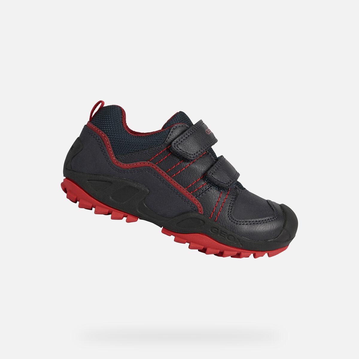 GEOX dětské tenisky NEW SAVAGE BOY černé - červené - J041VA