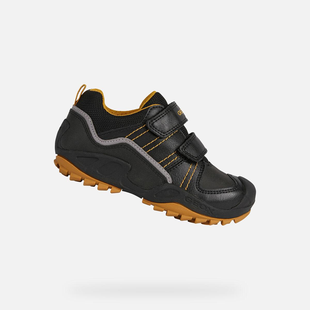 GEOX dětské tenisky NEW SAVAGE BOY černé - žluté -  J041VA