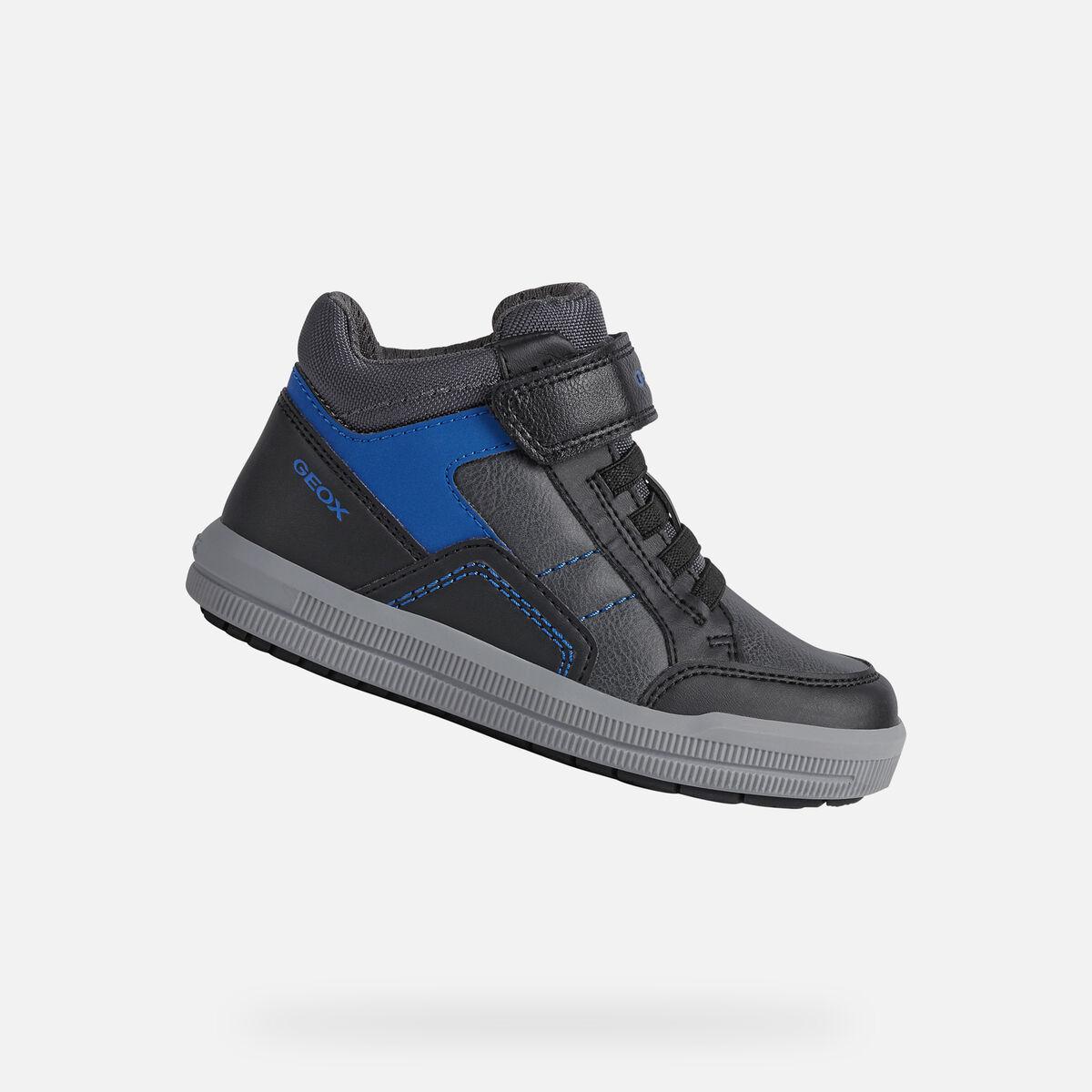 GEOX dětské kotníkové boty ARZACH BOY černé - modré - J044AA