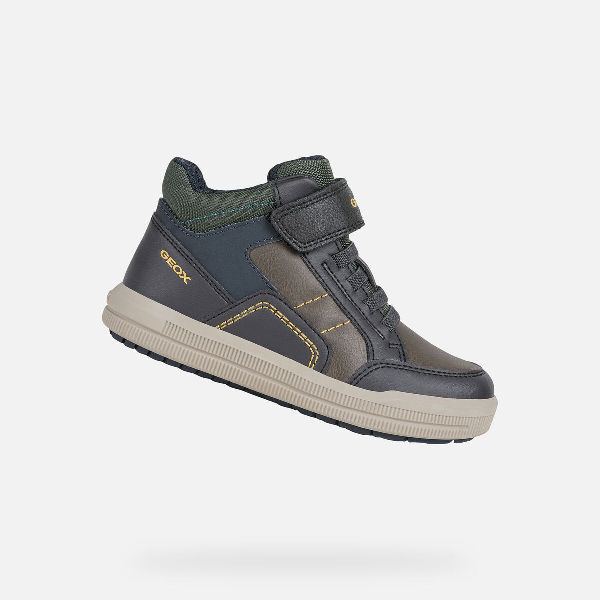 GEOX dětské kotníkové boty ARZACH BOY šedé - modré - J044AA