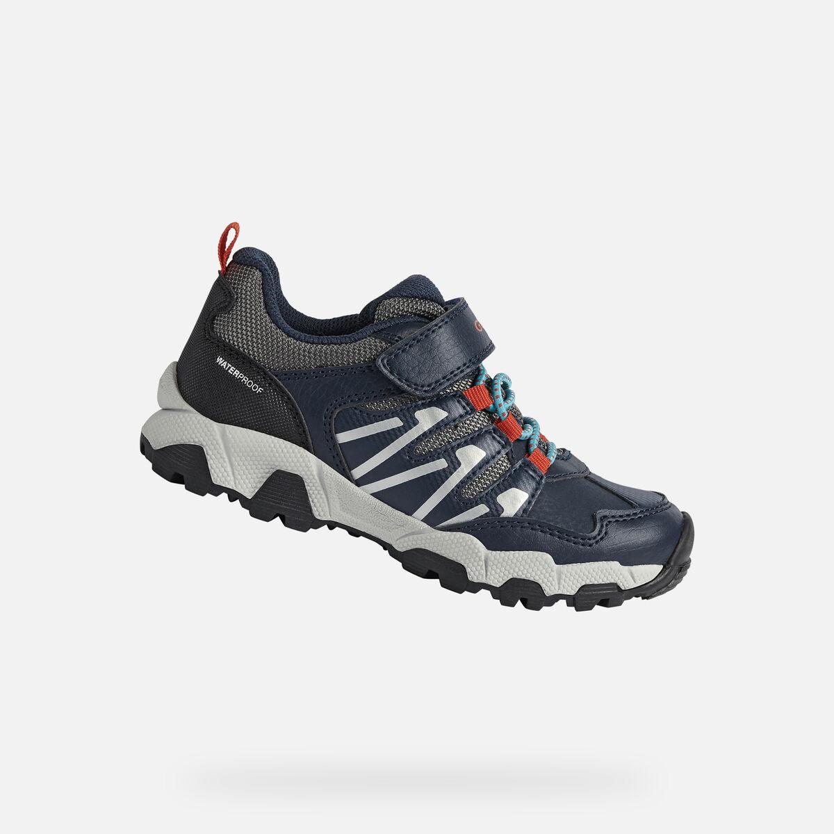 GEOX dětské boty MAGNETAR BOY modro - červené - J164CB