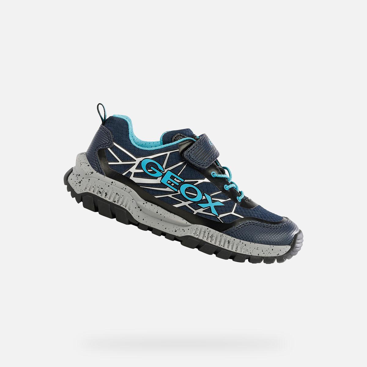 GEOX dětské boty TUONO BOY modré - J15AXB