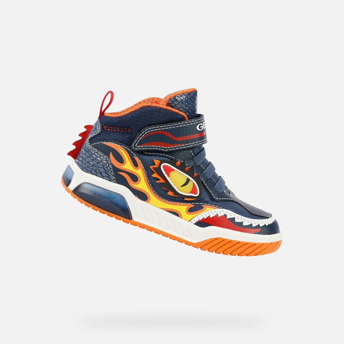 GEOX dětské boty se svítící podrážkou BAYONYC - J169CA