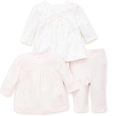 Little Me 3-dílná kojenecká souprava kabátky