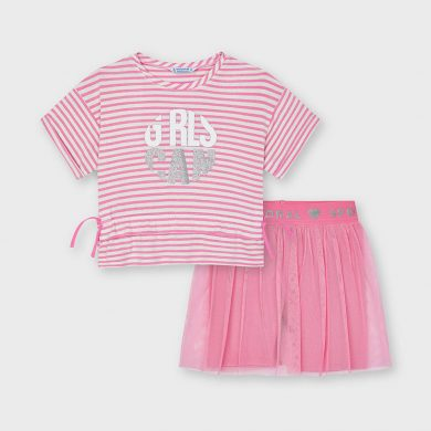 Mayoral dívčí set trika a sukně 3739 - 054