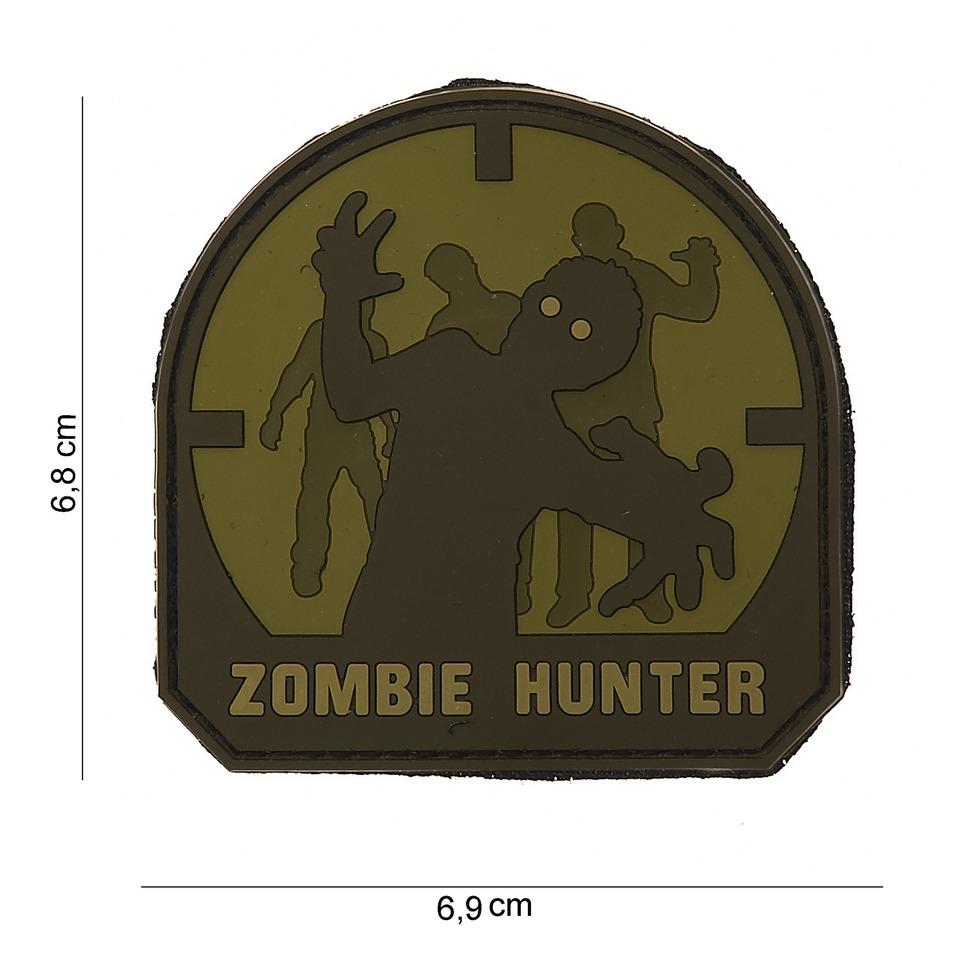 Gumová nášivka 101 Inc Zombie Hunter SWAT - olivová