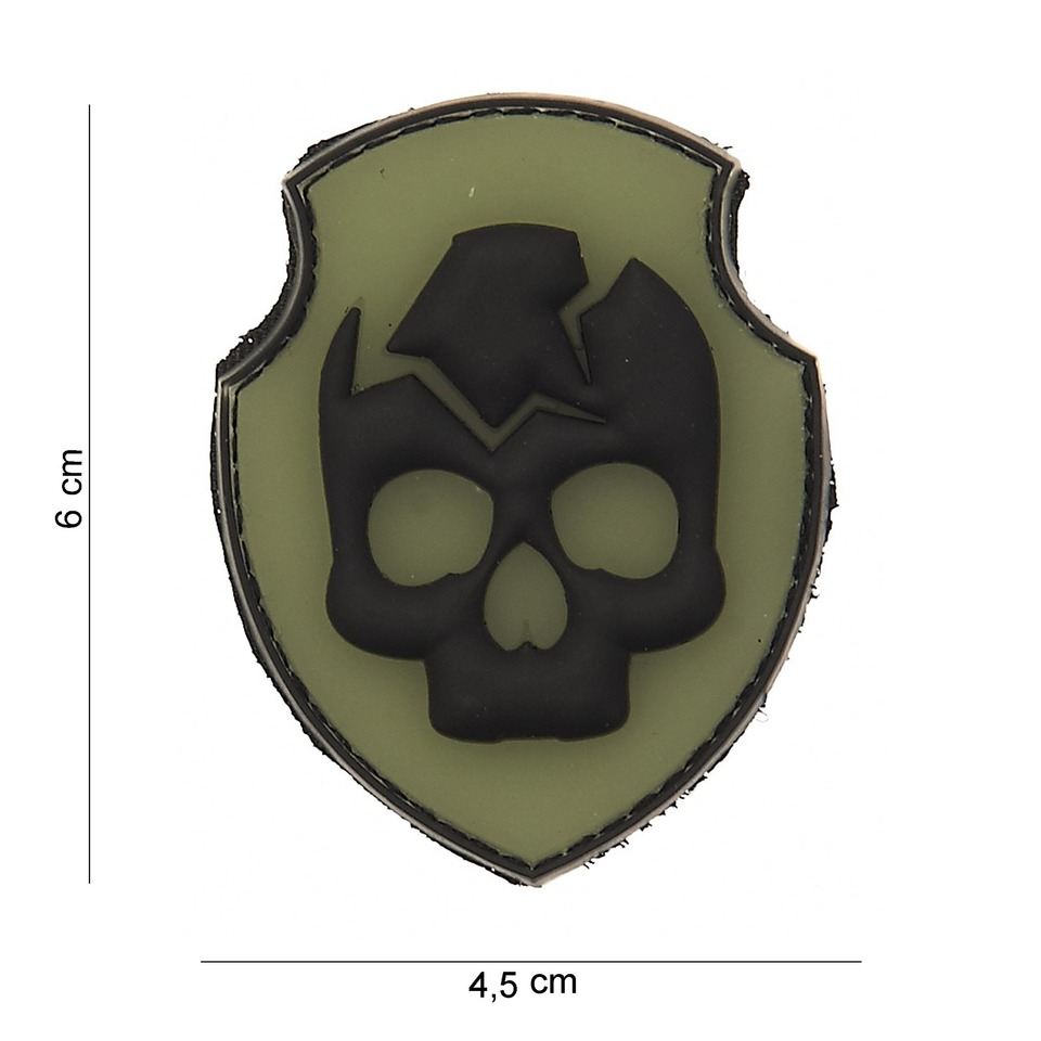 Gumová nášivka 101 Inc Ghost Skull