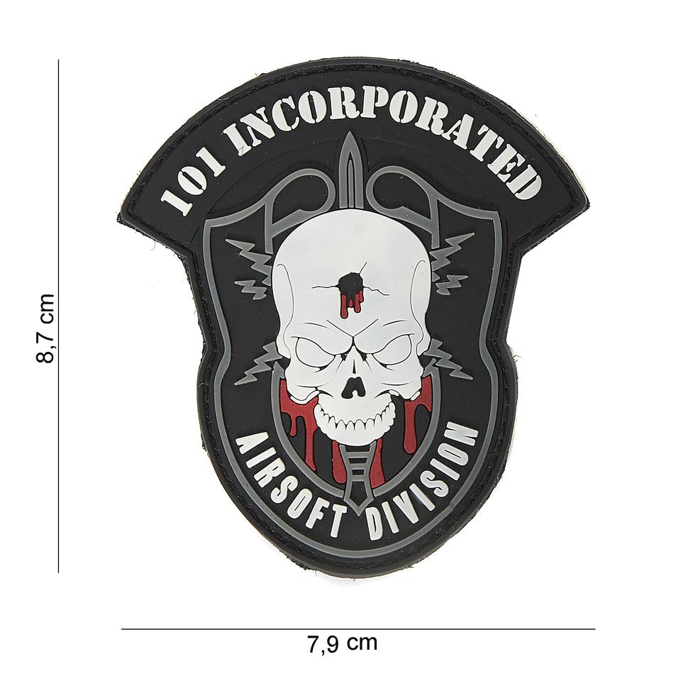 Gumová nášivka 101 Inc Airsoft Division Skullhead
