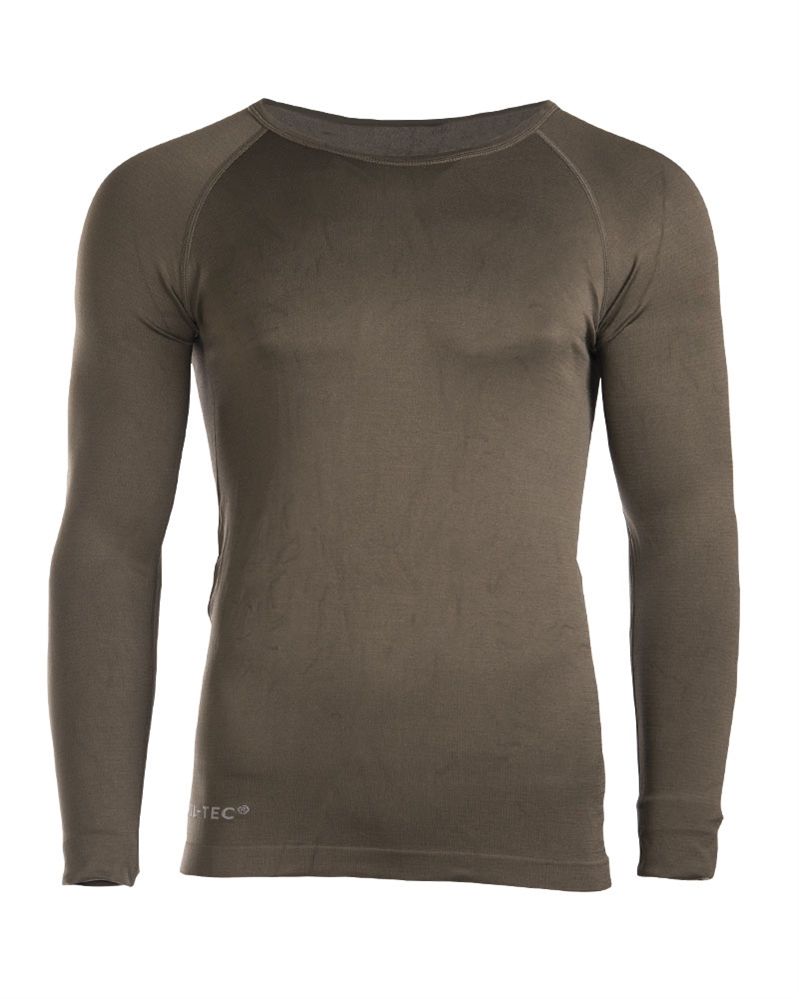 Funkční triko Mil-Tec Sport dlouhý rukáv - olivové, S/M