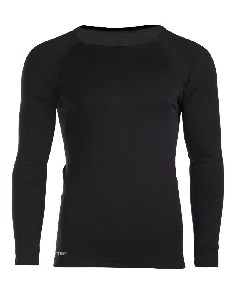 Funkční triko Mil-Tec Sport dlouhý rukáv - černé, S/M