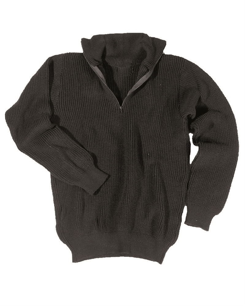 Svetr Troyer s límečkem - černý, 58
