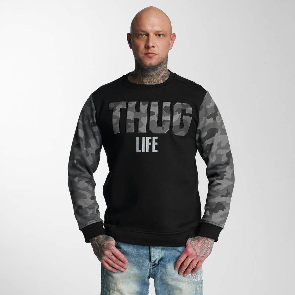 Mikina Thug Life Jumper Zombi - blackcamo, L