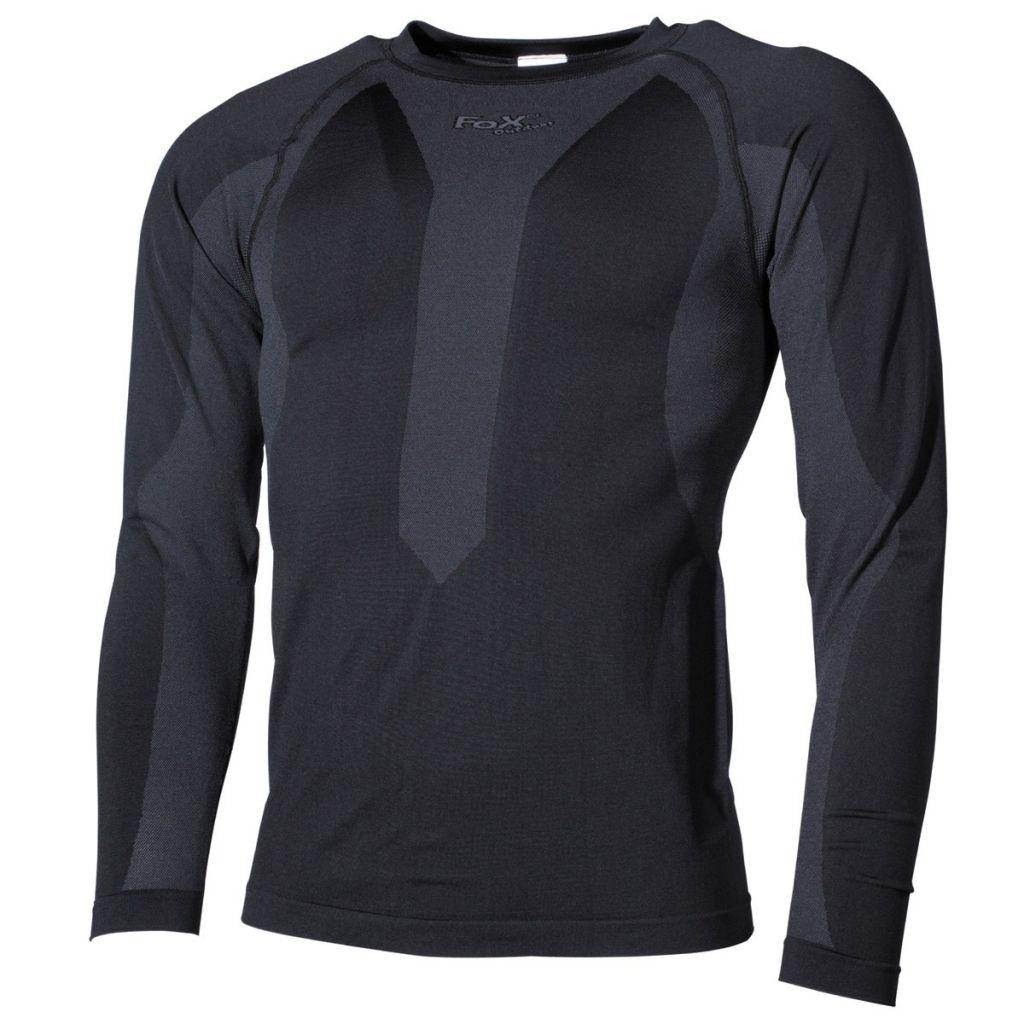 Funkční triko s dlouhým rukávem Fox Thermo-Sport - černé, XXL