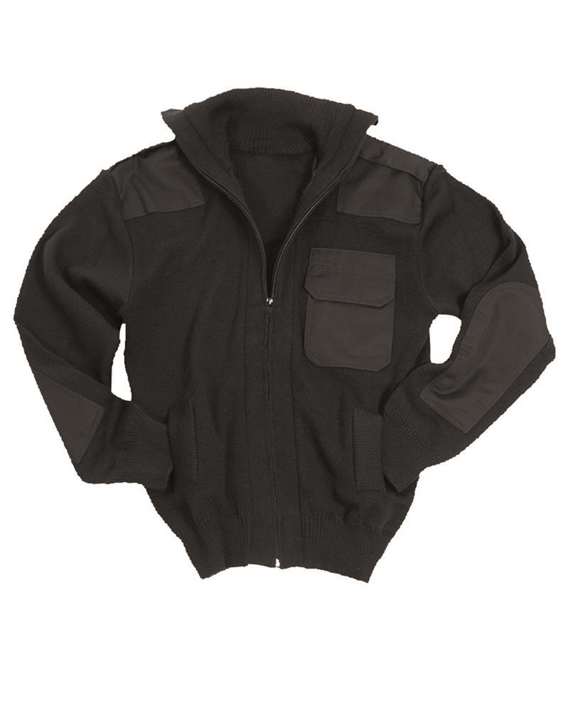 Svetr na zip s kapsou Mil-Tec Cardigan - černý, 46
