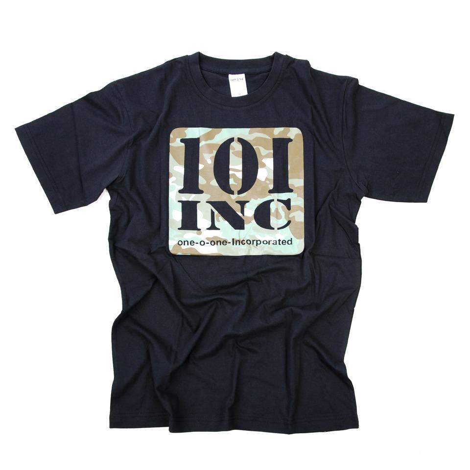 Tričko 101 Inc Logo - černé, XXL