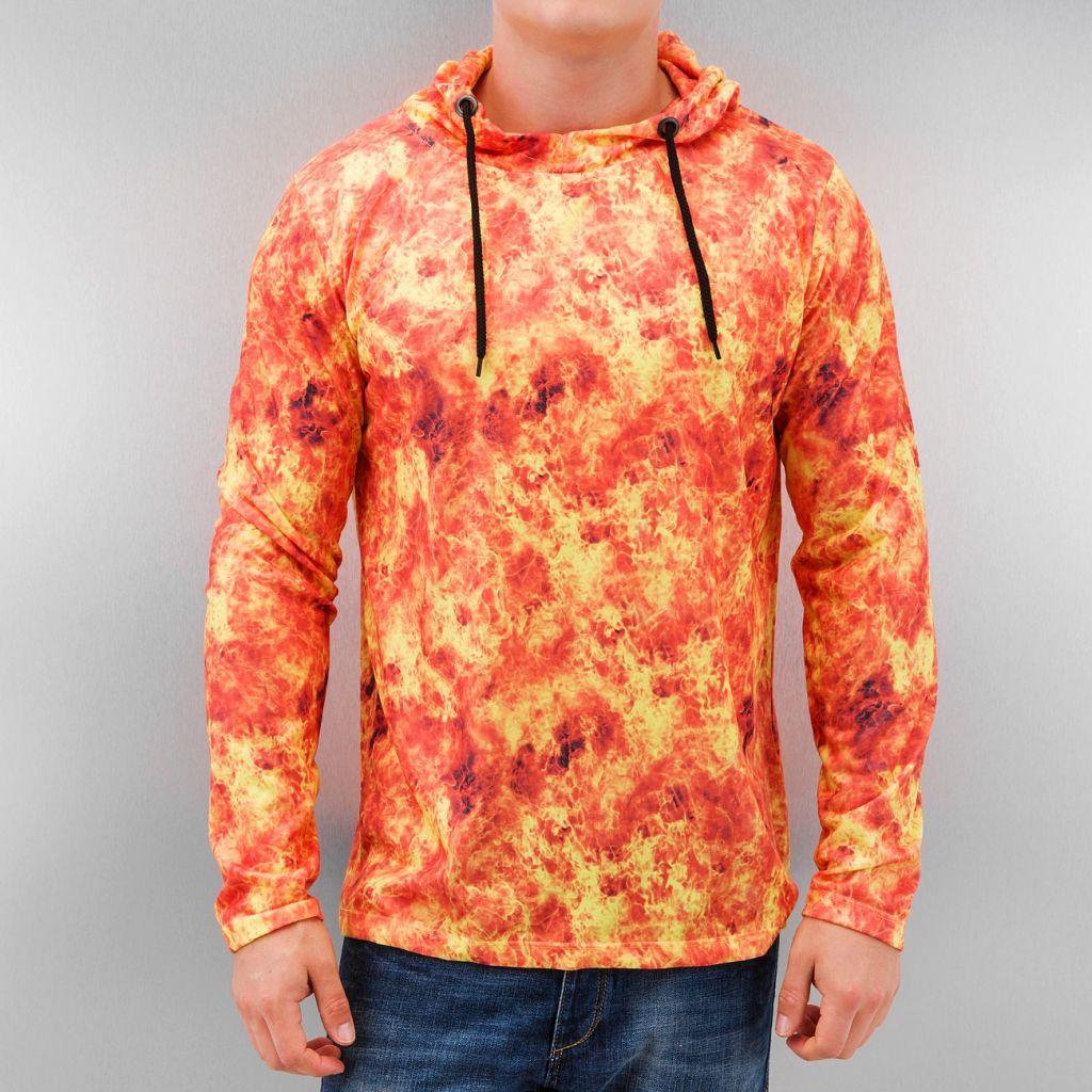 Mikina DNGRS Flames - oranžová, L