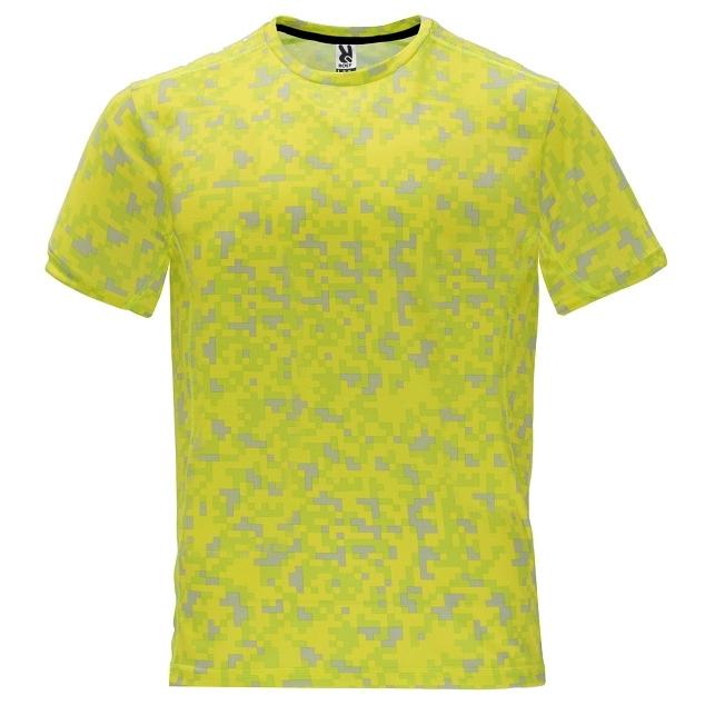 Pánské sportovní tričko Roly Assen - yellow-camo, L