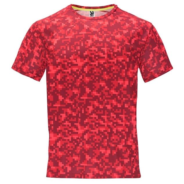 Pánské sportovní tričko Roly Assen - red-camo, L