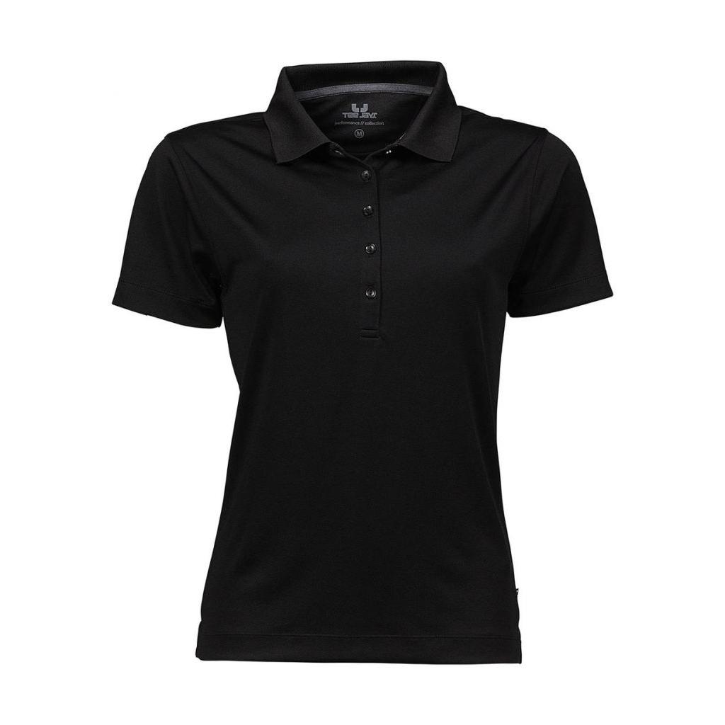 Polokošile dámská Tee Jays Preformance - černá, 3XL