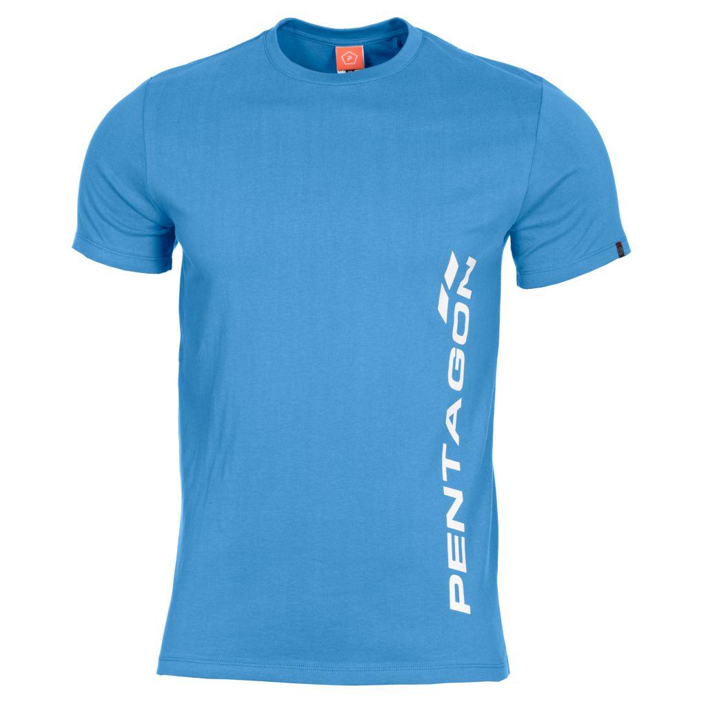 Tričko Pentagon Vertical - modré, S