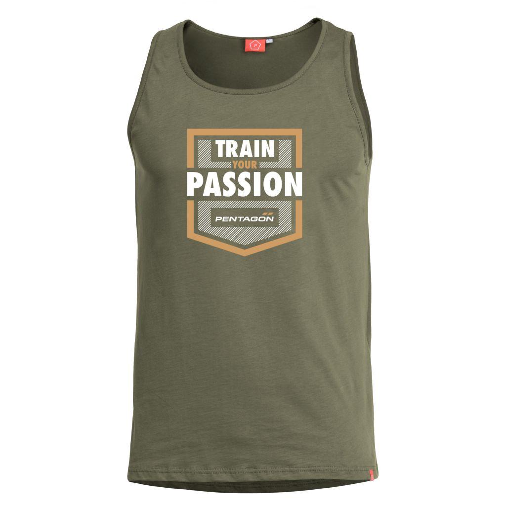 Tílko Pentagon Train Your Passion - olivové, M