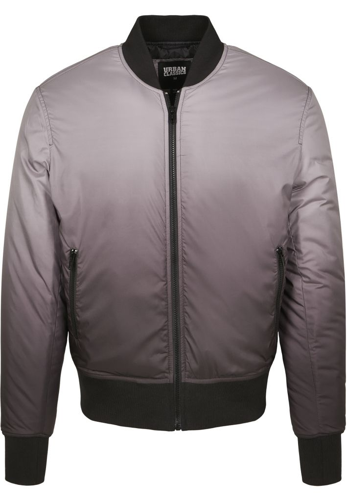 Bunda Urban Classics Gradient Bomber Jacket - černá-šedá, S